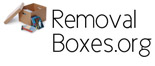Boxes for removals, packaging and postal services