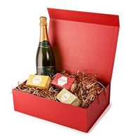 Large red hamper