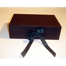 Black and blue two tone hamper