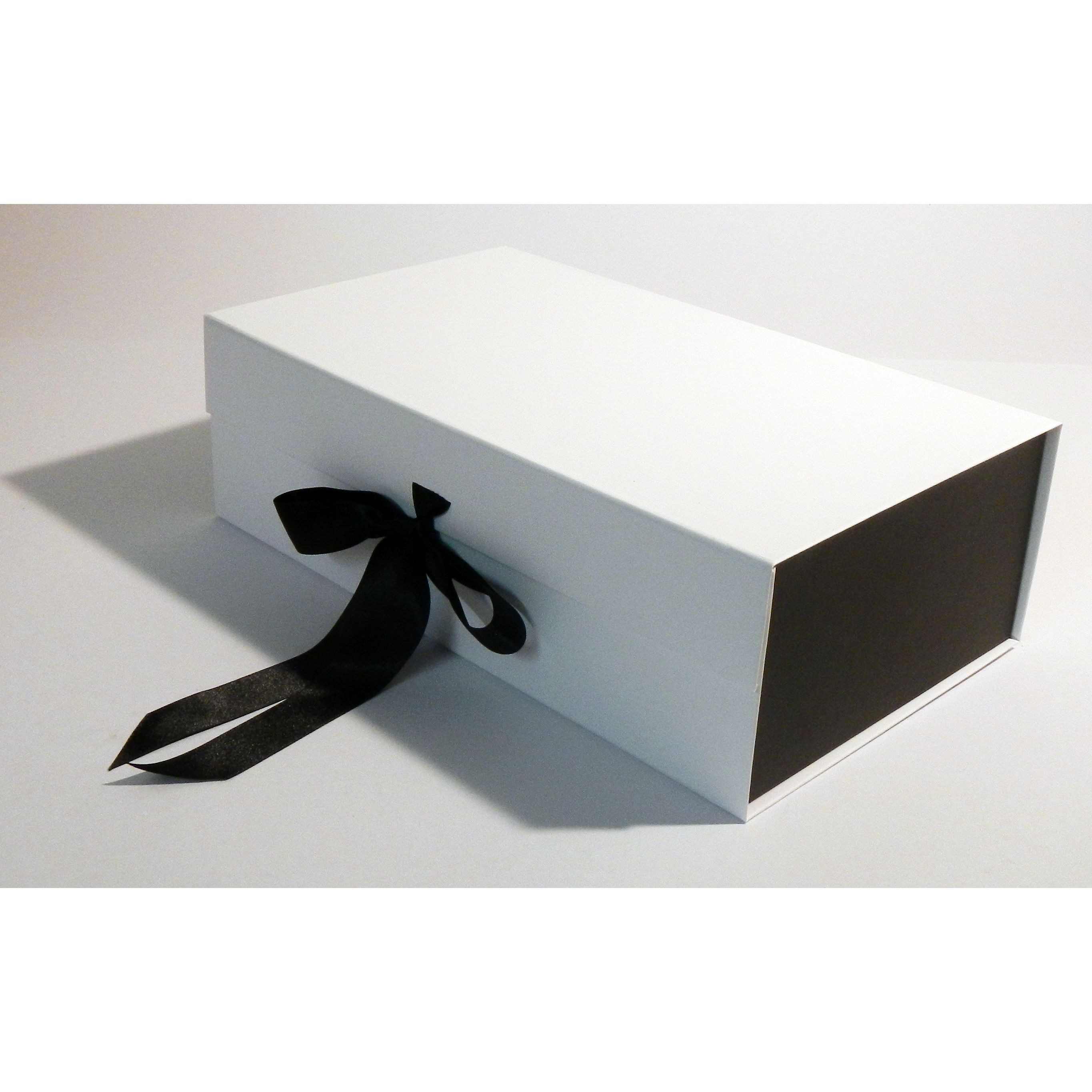 White And Black Two Tone Hampers