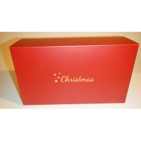 Hamper with gold christmas on lid