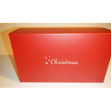 Christmas Printed Hamper with Silver text